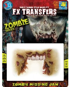 Tinsley Transfers Zombie Missing Jaw Makeup FX Transfers