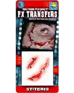 Tinsley Transfers Stitches Hollywood Film Quality 2pc Makeup FX Transfers