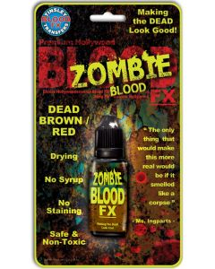 Tinsley Transfers Drying Zombie .25oz Fake Blood FX, Dead Brown Red