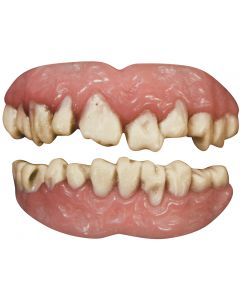 Tinsley Transfers Zombie 2pc False Teeth FX, White Pink