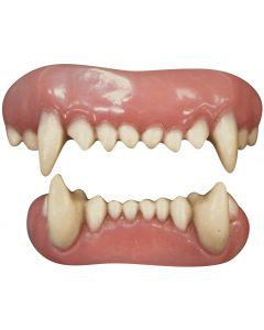 Tinsley Transfers Animal 2pc False Teeth FX, White Pink