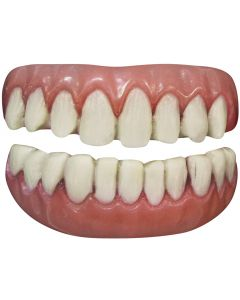 Tinsley Transfers Long Tooth 2pc False Teeth FX, White Pink