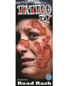 Tinsley Transfers Road Rash Trauma 12pc Temporary Tattoo FX Kit, Red Black
