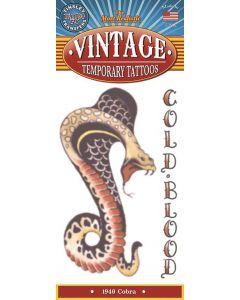 Tinsley Transfers Cobra 1940 Vintage Temporary Tattoo FX