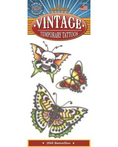 Tinsley Transfers Butterflies 1960 Vintage Temporary Tattoo FX