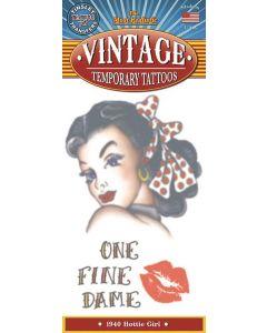 Tinsley Transfers Hottie Girl 1940 Vintage Temporary Tattoo FX