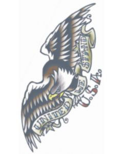 Tinsley Transfers 1910 Vintage Eagle United We Stand Temporary Tattoo FX