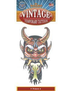 Tinsley Transfers Demon Vintage Temporary Tattoo FX