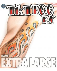 Tinsley Transfers Flames Extra Large Temporary Tattoo FX Costume Kit