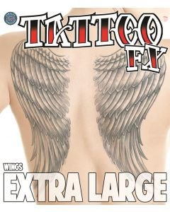 Tinsley Transfers Angel Wings Temporary Tattoo FX Costume Kit, Extra Large
