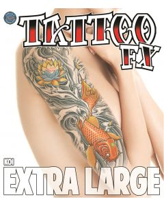 Tinsley Transfers Koi Extra Large Temporary Tattoo FX Costume Kit