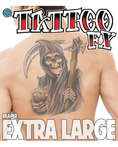 Tinsley Transfers Reaper Extra Large Temporary Tattoo FX Costume Kit