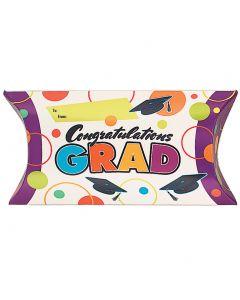 "Colorful ""Congratulations Grad"" Treat Pop Up Graduation 7"" Favor Boxes, 8 CT"