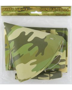 Unique Boys Camo Army Party Favors for 4 12pc Party Pack, Camouflage