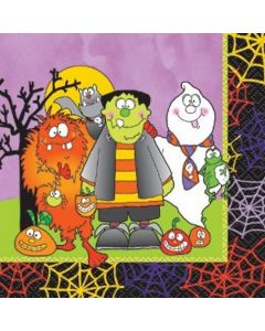"Unique Little Monsters Halloween Decor 10"" Dessert Napkins, 16 CT"