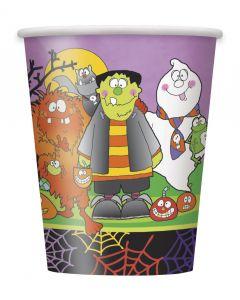 Unique Little Monsters Halloween Standard 9 Oz Cups, 8 CT