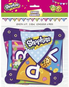 Unique Shopkins Large Colorful Happy Birthday 6ft Jointed Banner