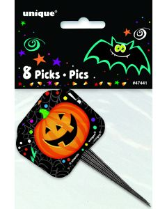 "Unique Halloween Décor Cupcake & Appetizer 3.5"" Picks, 8 CT"