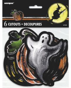 "Unique Ghostly Halloween Set Seasonal 4"" - 6"" Cutout, 6 CT"