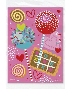"Unique Sweet Valentine Candy Designs 4""x6"" Treat Favor Bags, Pink, 50 CT"