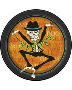 "Unique Dancing Day of the Dead 7"" Paper Plates, 8 CT"