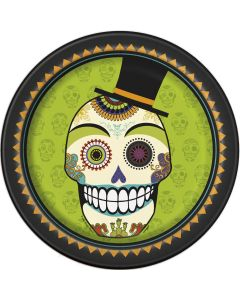 "Unique Skull Day of the Dead 9"" Paper Plates, 8 CT"