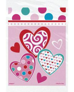 "Unique Valentine's Day Bright Hearts 4""x6"" Treat Favor Bags, Pink, 50 CT"