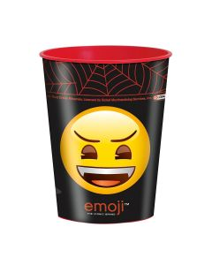 Unique Halloween Emoji Smiley Monsters 16 oz. Party Cup, Black Red