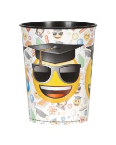 Unique Graduation Emoji Grad Faces Around Hard Plastic 16oz Favor Cup