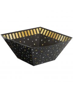 "Unique You Did It! Graduation Square Paper 11"" Serving Bowl, Gold Silver Black"