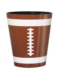 Unique Realistic Football Design Party Drink 2 oz Shot Glass, Brown White