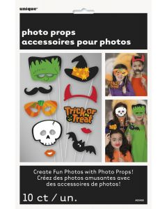 Unique Fun Halloween Variety Party Character 10pc 9 IN Photo Props