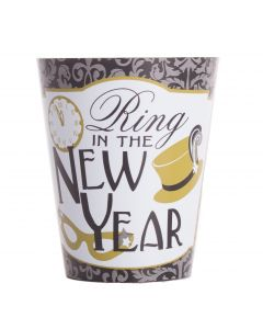 "Unique Jazzy New Year's Party 2019 2"" Shot Glass, Black Gold Silver"