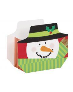 """Unique Adorable Happy Holidays Snowman Christmas Party 5"""" Favor Boxes, 8 CT"""