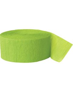 Unique Team Spirit Football School Color Solid 81ft Streamers, Lime Green