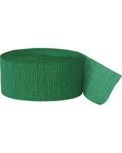 Unique Team Spirit Football Solid Color 81ft Crepe Party Streamer, Green