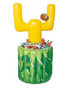 "Unique Giant Football Goal Post 3pc 51"" Drink Cooler, Green Yellow White"