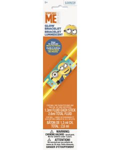 "Unique Despicable Me Minions Glow Stick Bracelet 8"" Birthday Party Favor"