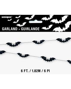 Unique Halloween Bat Paper Garland 6 ft. Hanging Decorations, Black