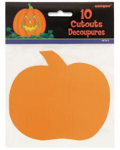 Unique Small Pumpkin Halloween Decor 5 in Cutouts, Orange, 10 CT