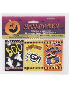 Unique Mini Spiral Bound Notebooks Trick or Treat Handout, 6 CT