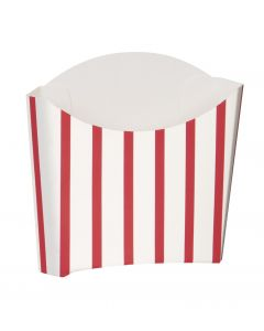 """Unique Classic Striped Snack Containers 4""""x4"""" Serving Tray, White Red, 8 CT"""