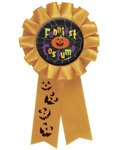 "Unique Halloween Party Funniest Halloween Costume 6"" Award Ribbon, Orange"