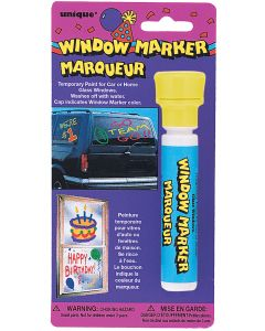 School Team Spirit High Capacity Window Marker 0.84oz Decoration Pack, Yellow