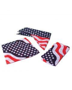 "US Toy American Flag Patriotic  20""Wx20""L Bandana, Red White Blue"