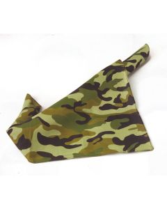 "US Toy Army Camouflage Print Accessory 20""x20"" Bandana, Green Black Tan"