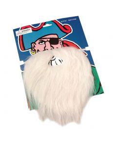 "US Toy Holiday Christmas Santa Claus Beard & Moustache Set, White, 8"""