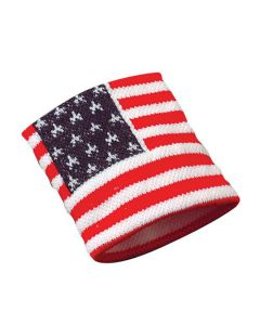 "US Toy Stars and Stripes Wristband 2.75"" Wristbands, Red White Blue, 12 Pack"