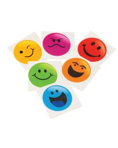 "Smiley Face Emoji Christmas Stocking Stuffer 1.5"" Temporary Tattoos, 144 Pack"