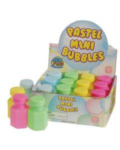 """Summer Party Favors Pastel Mini 2"""", 6 fl. oz Bubbles, Assorted Colors, 12 Pack"""